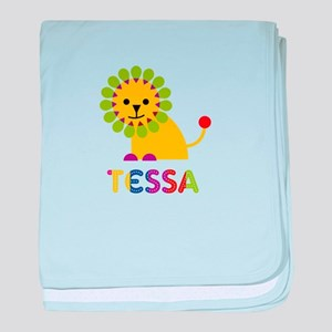 Tessa the Lion baby blanket