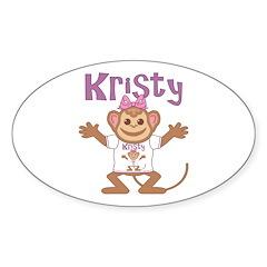 Little Monkey Kristy Sticker (Oval)