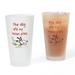 The Dog Ate My Lesson Plans! Drinking Glass
