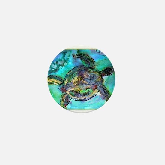 Sea Turtle, wildlife, art, Mini Button