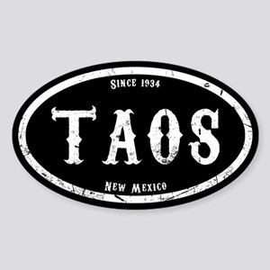 Taos NM Sticker (Oval)