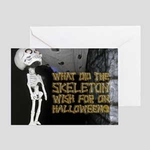 Halloween - Funny Skeleton Joke Greeting Card