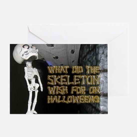 Halloween - Funny Skeleton Joke Greeting Card