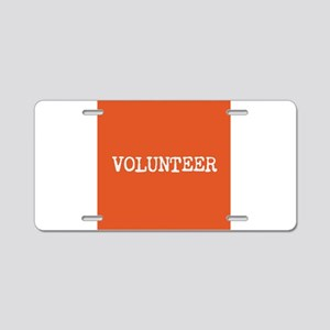 VOLUNTEER Aluminum License Plate