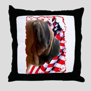 Mastiff Patriot 3 Throw Pillow
