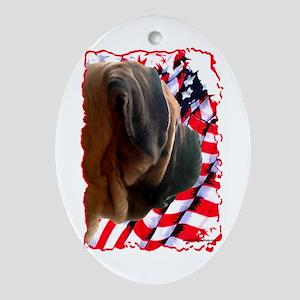 Mastiff Patriot 3 Oval Ornament