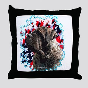 Mastiff Patriot 2 Throw Pillow