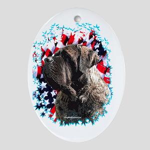 Mastiff Patriot 2 Oval Ornament