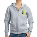 """Surfing Dog"" Women's Zip Hoodie"