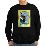 """Surfing Dog"" Sweatshirt (dark)"