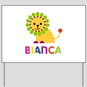 Bianca the Lion Yard Sign