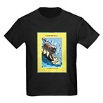 """Surfing Dog"" Kids Dark T-Shirt"