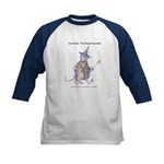 Inca Dink & Hilary Mouse Kids Baseball Jersey