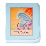 """I Dream in Horse"" baby blanket"