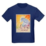 """I Dream in Horse"" Kids Dark T-Shirt"