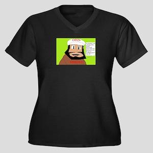 openminded Women's Plus Size V-Neck Dark T-Shirt