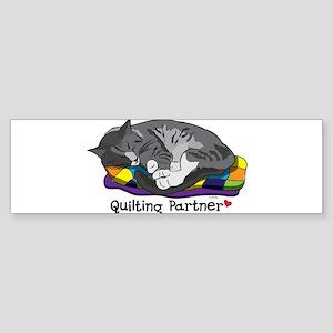 Quilting Partner Sticker (Bumper)
