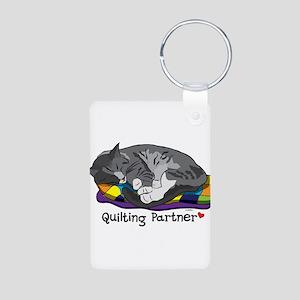 Quilting Partner Aluminum Photo Keychain