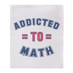 Addicted to Math Throw Blanket