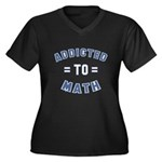 Addicted to Math Women's Plus Size V-Neck Dark T-S