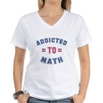 Addicted to Math Women's V-Neck T-Shirt