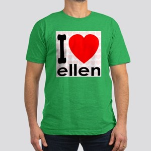I Love ellen Men's Fitted T-Shirt (dark)