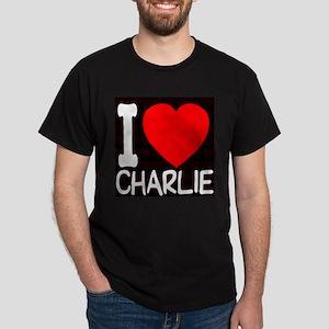 I Love Charlie Dark T-Shirt