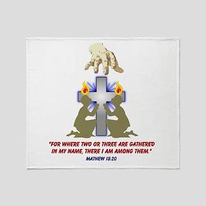 Jesus Among Us Throw Blanket