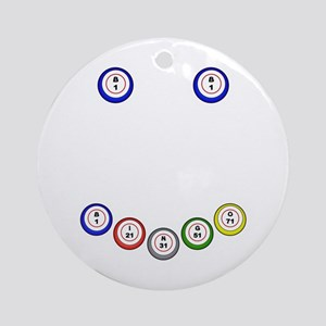 Bingo Ball Smile Ornament (Round)