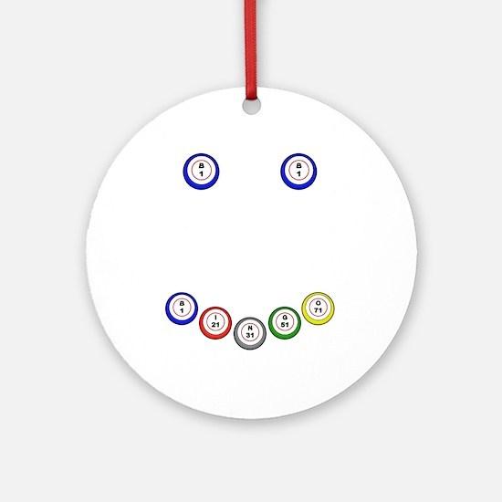 Bingo Ball Smile Ornament (Round)