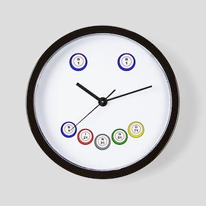 Bingo Ball Smile Wall Clock