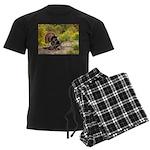 Wild Turkey Gobbler Men's Dark Pajamas