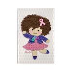 Little Emma (BCA White) Rectangle Magnet (100 pack
