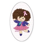 Little Emma (BCA White) Sticker (Oval)