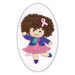 Little Emma (BCA White) Sticker (Oval 50 pk)