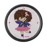 Little Emma (BCA White) Large Wall Clock
