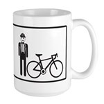 Bike Widow Large Mug