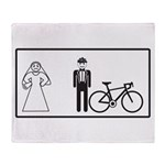Bike Widow Throw Blanket