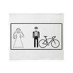 Bike Widow Throw Blanket