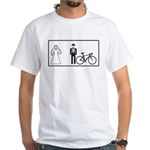 Bike Widow White T-Shirt