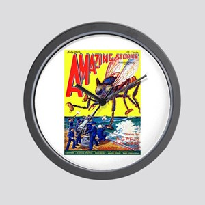 Amazing Giant Fly Cover Art Wall Clock