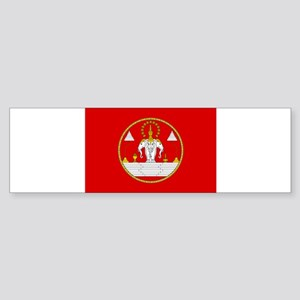 Laotian Royal Coat of Arms Sticker (Bumper)