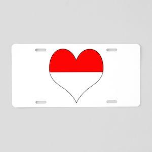 Monaco Heart Aluminum License Plate