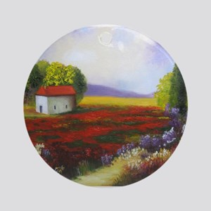 LANDSCAPE PAINTING Ornament (Round)