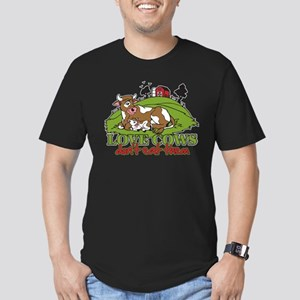 Love Cows, Don't Eat Them Men's Fitted T-Shirt (da