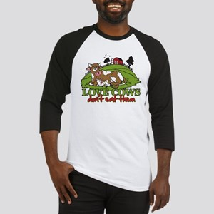 Love Cows, Don't Eat Them Baseball Jersey