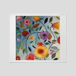GARDEN FLOWERS Throw Blanket