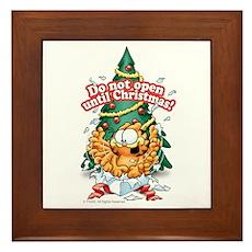 Do Not Open Until Christmas Framed Tile