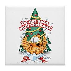 Do Not Open Until Christmas Tile Coaster