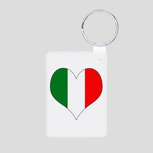 Italy Heart Aluminum Photo Keychain